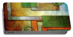 Portable Battery Charger featuring the digital art Abstraction 2 by Chuck Staley