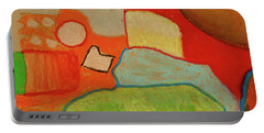 Abstraction123 Portable Battery Charger by Paul McKey