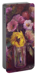 Abundance- Floral Painting Portable Battery Charger