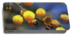 Acacia Blossoms Portable Battery Charger by Tom Janca
