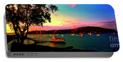 Portable Battery Charger featuring the photograph  Acadia Bar Harbor Sunset Cruises by Tom Jelen