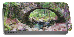 Acadia National Park - Cobblestone Bridge Abstract Portable Battery Charger