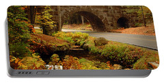 Portable Battery Charger featuring the photograph Acadia Stone Bridge by Alana Ranney