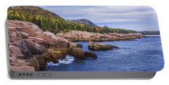 Portable Battery Charger featuring the photograph Acadia's Coast by Chad Dutson