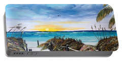 Access The Siesta Key Sunset Portable Battery Charger by Lloyd Dobson
