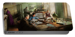 Portable Battery Charger featuring the photograph Accountant - The- Bookkeeping Dept 1902 by Mike Savad
