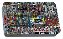 Achtung Baby Portable Battery Charger by Frank Van Meurs
