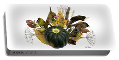 Portable Battery Charger featuring the digital art Acorn Squash Bouquet by Lise Winne