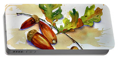 Acorns And Leaves Portable Battery Charger