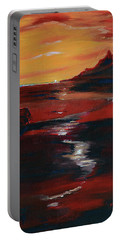 Across Amber Fields To The Sea Portable Battery Charger by Donna Blackhall