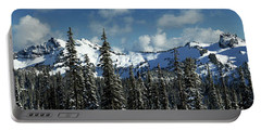Portable Battery Charger featuring the photograph Across From Mt Rainier by Mary Jo Allen