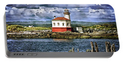 Across From The Coquille River Lighthouse Portable Battery Charger by Thom Zehrfeld
