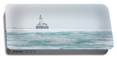 Across The Frozen Lake Portable Battery Charger