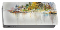 Across The Pond Portable Battery Charger by P Anthony Visco