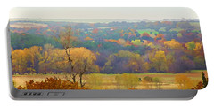 Across The River In Autumn Portable Battery Charger