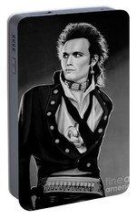 Adam Ant Painting Portable Battery Charger by Paul Meijering