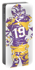 Adam Thielen Minnesota Vikings Pixel Art 2 Portable Battery Charger