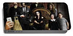 Addams Halloween Greeting Card Portable Battery Charger by Alessandro Della Pietra