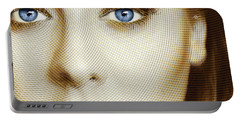 Adele Painting Circle Pattern 1 Portable Battery Charger