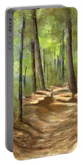 Adirondack Hiking Trails Portable Battery Charger by Judy Filarecki