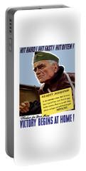 Admiral William Bull Halsey -- Ww2 Propaganda  Portable Battery Charger