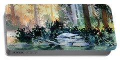 Portable Battery Charger featuring the painting Admiralty Island by Teresa Ascone