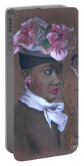 Admirer, 1947 Easter Bonnet -- The Original -- Retro Portrait Of African-american Woman Portable Battery Charger