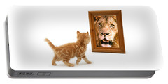 Admiring The Lion Within Portable Battery Charger