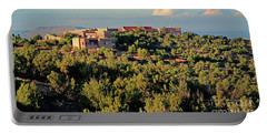 Portable Battery Charger featuring the photograph Adobe Homestead Santa Fe by Diana Mary Sharpton