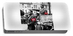 Adolf Hitler Giving The Nazi Salute From A Mercedes #3 C. 1934-2015 Portable Battery Charger