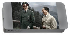 Adolf Hitler Joseph Goebbels Berghof Retreat  Number 2 Agfacolor Heinrich Hoffman Photo Circa 1942 Portable Battery Charger
