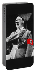 Adolf Hitler Ranting 1  Portable Battery Charger by David Lee Guss