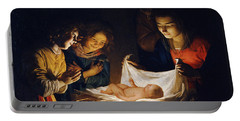 Adoration Of The Child Portable Battery Charger