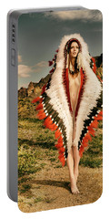 Adorned Feathered Nude Portable Battery Charger