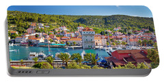 Adriatic Village Of Marina Near Trogir Portable Battery Charger