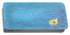 Portable Battery Charger featuring the painting Adrift by Thomas Blood