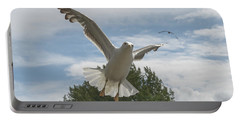 Adult Seagull In Flight Portable Battery Charger
