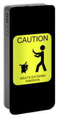 Portable Battery Charger featuring the digital art Adults Catching Pokemon 1 by Shane Bechler
