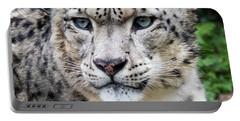 Adult Snow Leopard Portrait Portable Battery Charger
