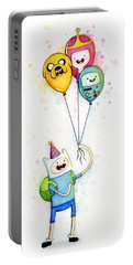 Adventure Time Finn With Birthday Balloons Jake Princess Bubblegum Bmo Portable Battery Charger