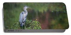 Advice From A Great Blue Heron Portable Battery Charger