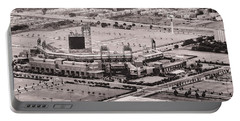 Aerial - Citizens Bank Park In Black And White Portable Battery Charger