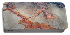 aerial landscape abstract of Colorado foothills Portable Battery Charger