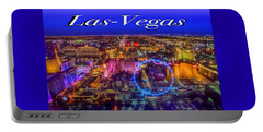 Aerial Las- Vegas Evening Portable Battery Charger
