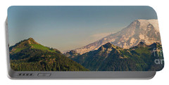 Aerial Mount Rainier And Tatoosh Range Panorama Portable Battery Charger