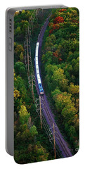 Aerial Of  Commuter Train  Portable Battery Charger