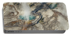 Aerial Photo Of Black Pool And Abyss Pool At West Thumb Gesyer Basin Portable Battery Charger