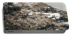 Aerial Photo Of West Thumb Geyser Basin Portable Battery Charger