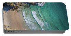 Aerial Shot Of Honeymoon Bay On Moreton Island Portable Battery Charger