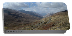 Aerial Shot Of Mountainous Karakoram Highway Babusar Pass Pakistan Portable Battery Charger